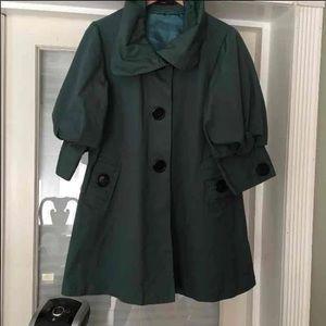 Emerald green pea coat